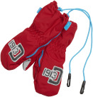 Zip Mittens Red